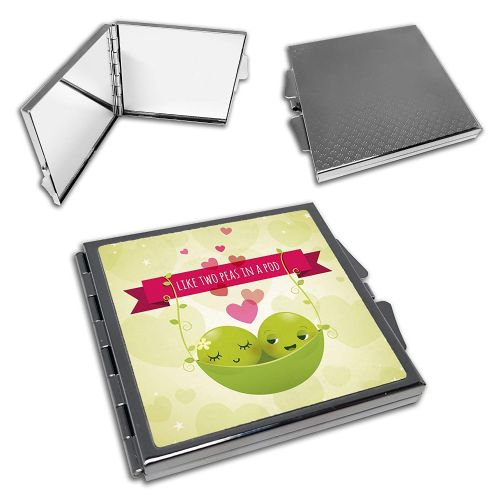 Like Two Peas in A Pod Cute Square Compact Mirror